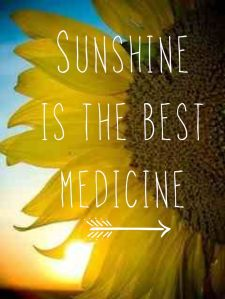 Sunshine is the best medicine