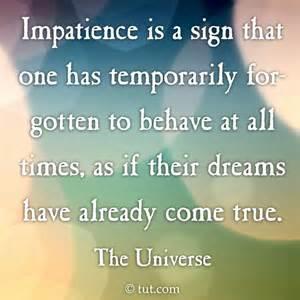 impatience